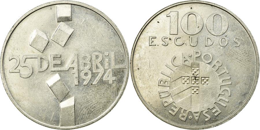 World Coins - Coin, Portugal, 100 Escudos, 1974, Lisbon, , Silver, KM:603