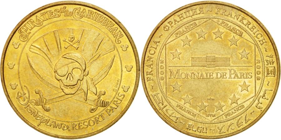 World Coins - France, Touristic token, 77/ Disneyland - Pirates des Caraïbes, 2009, MDP