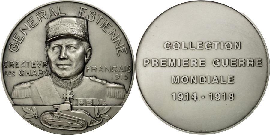 World Coins - France, Medal, Général Estienne, créateur des chars français 1915, Morlon