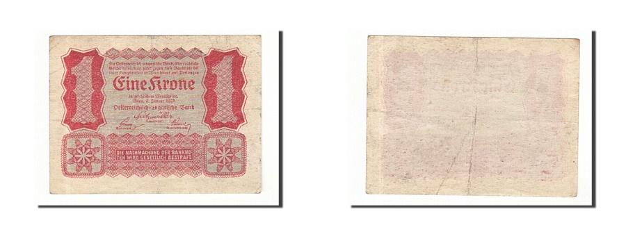 World Coins - Austria, 1 Krone, 1922, 1922-01-02, KM:73, EF(40-45)