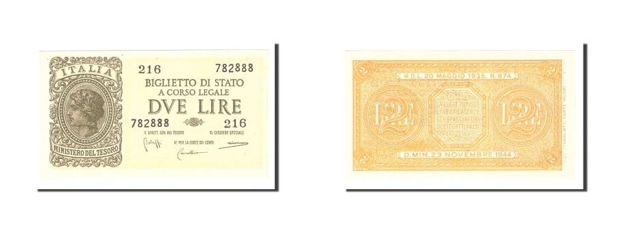 World Coins - Italy, 2 Lire, 1944, KM:30b, 1944-11-23, UNC(63)