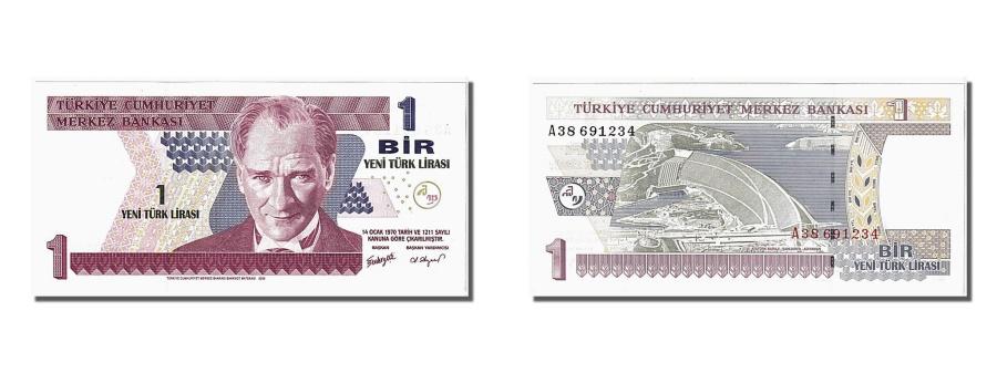 World Coins - Turkey, 1 New Lira, 2005, KM #216, UNC(65-70), A38691234