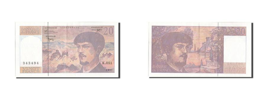 World Coins - France, 20 Francs, 20 F 1980-1997 ''Debussy'', 1997, KM:151i, 1997, UNC(60-62...