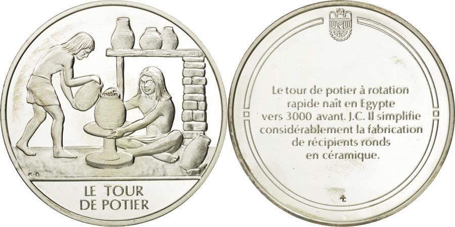 France medal le tour de potier sciences technologies ms 65 70 silver - Tour de potier professionnel ...