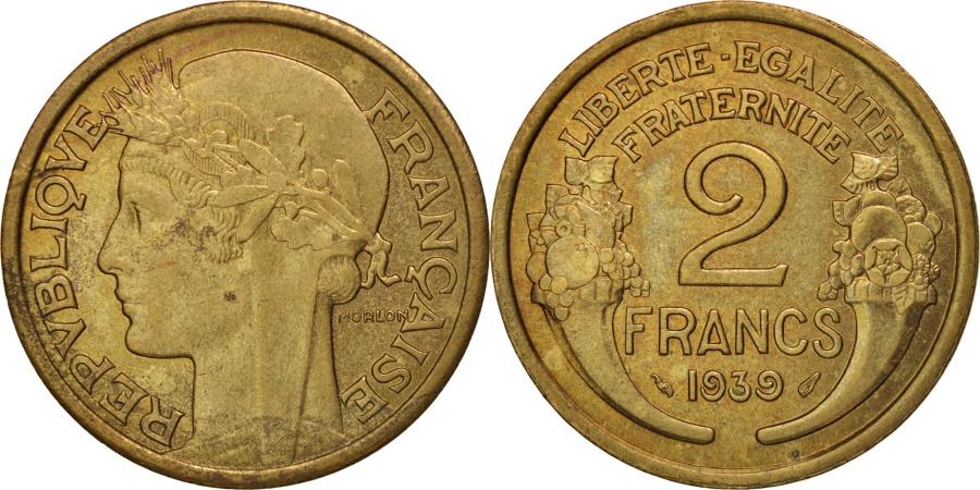 World Coins - France, Morlon, 2 Francs, 1939, Paris, , Aluminum-Bronze, KM:886