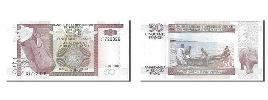 World Coins - Burundi, 50 Francs, 2003, KM #36d, UNC(65-70), CT722026