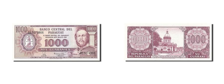 World Coins - Paraguay, 1000 Guaraníes, 1952, KM #201a, UNC(65-70), A63074866