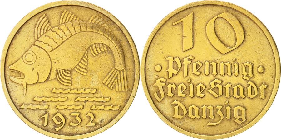 World Coins - DANZIG, 10 Pfennig, 1932, KM:152