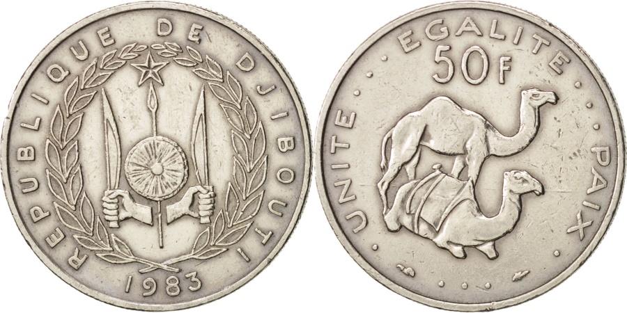 World Coins - Djibouti, 50 Francs, 1983, Paris, , Copper-nickel, KM:25