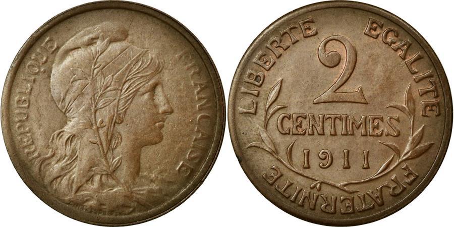 World Coins - Coin, France, Dupuis, 2 Centimes, 1911, AU(50-53), Bronze, KM:841, Gadoury:107