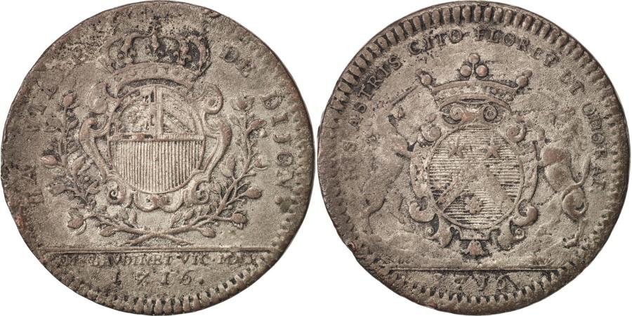 World Coins - France, Token, Ville de Dijon, Étienne Baudinet, 1716, , Copper