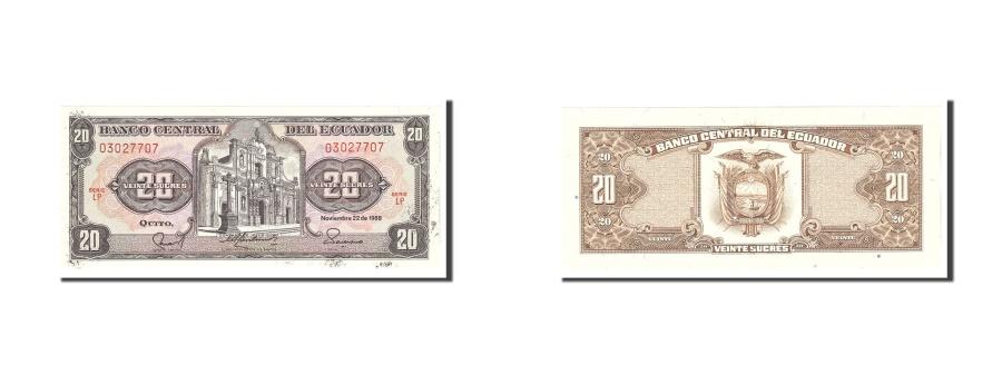 World Coins - Ecuador, 20 Sucres, 1988, KM:121Aa, 1988-11-22, UNC(63)