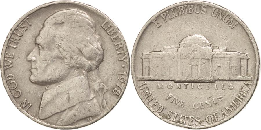 US Coins - UNITED STATES, Jefferson Nickel, 5 Cents, 1978, U.S. Mint, KM #A192, ,.