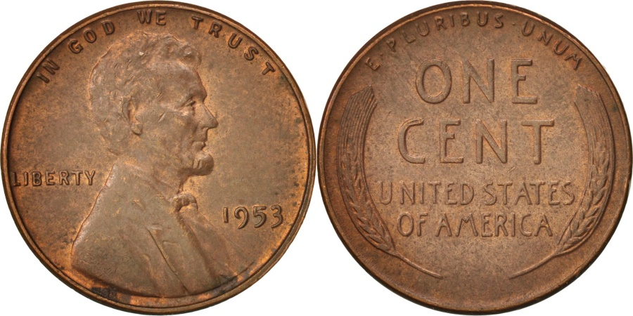 US Coins - United States, Lincoln Cent, Cent, 1953, KM:A132