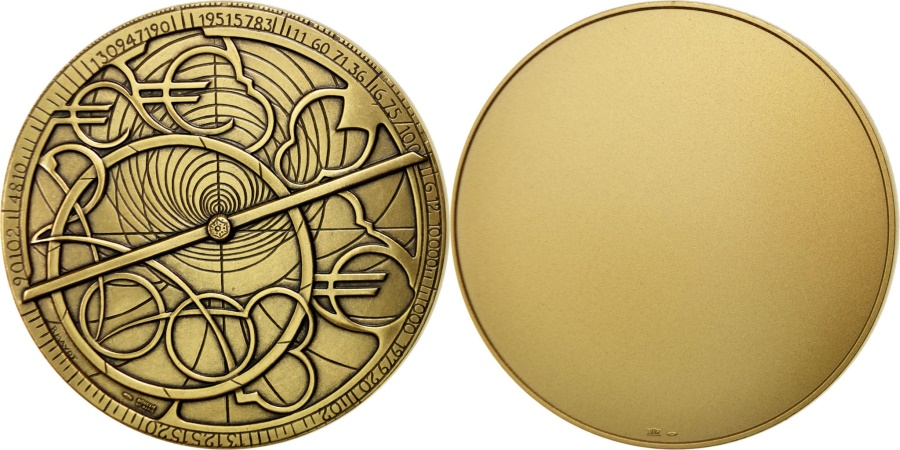 World Coins - FRANCE, Sciences & Technologies, The Fifth Republic, Medal, , Bronze,..