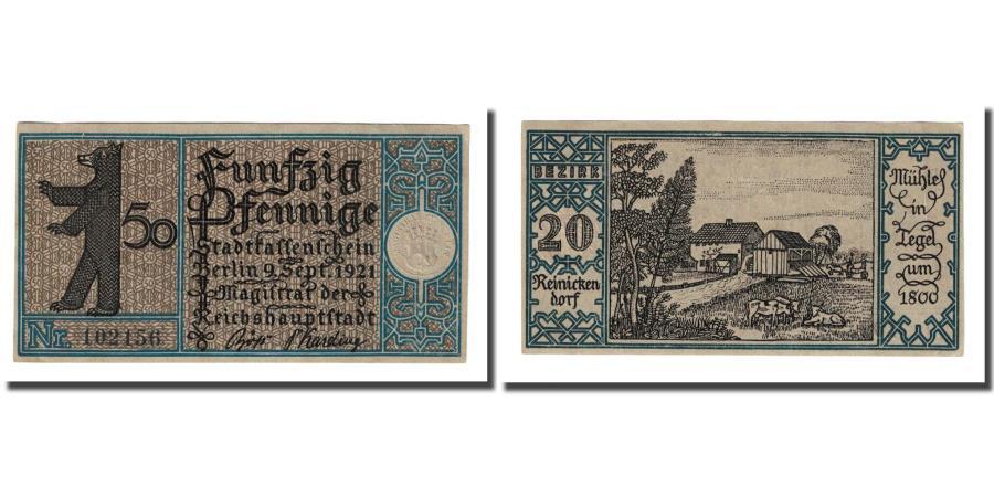 World Coins - Banknote, Germany, Berlin Stadt, 50 Pfennig, paysage, 1921, 1921-09-09, UNC(63)