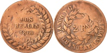 World Coins - Argentina, BUENOS AIRES, 2 Réales, 1860, F(12-15), Copper, KM:11