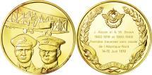 World Coins - France, Medal, L'Histoire de la Conquête de l'Air, J. Alcock et A. W. Brown