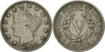Us Coins - United States, Liberty Nickel, 5 Cents, 1904, Philadelphia, EF(40-45), KM 112