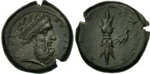 Ancient Coins - Sicily, Syracuse, Timoleon, Hemidrachm, AU(55-58), Bronze, HGC:2-1440