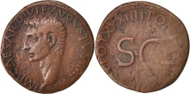 Ancient Coins - Augustus, As, 4, Roma, VF(20-25), Copper, Sear:5 1689