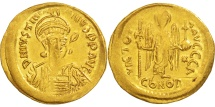 Justinian I, Solidus, 527-565 AD, Constantinople, Gold, Sear:137