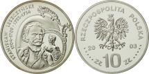 World Coins - Poland, 10 Zlotych, 2003, Warsaw, MS(65-70), Silver, KM:474