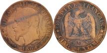 France, Napoleon III, 5 Centimes, 1864, Bordeaux, VF(20-25), KM 797.3