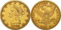 Us Coins - United States, Coronet Head, $10, 1893, Carson City, EF(40-45), Gold, KM:102