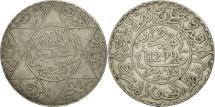Morocco, Moulay al-Hasan I, 2-1/2 Dirhams, 1881, Paris, EF(40-45), Silver, KM:6