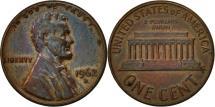 Us Coins - United States, Lincoln Cent, Cent, 1962, U.S. Mint, Denver, EF(40-45), Brass