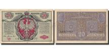 World Coins - Banknote, Poland, 20 Marek, 1917, 1917, KM:14, EF(40-45)