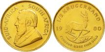 World Coins - Coin, South Africa, 1/2 Krugerrand, 1980, MS(60-62), Gold, KM:107