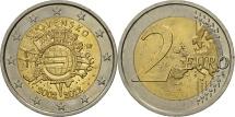 Slovakia, 2 Euro, 10 years euro, 2012, MS(63), Bi-Metallic