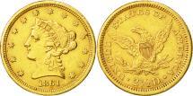 Us Coins - Coin, United States, Coronet Head, $2.50, Quarter Eagle, 1861, U.S. Mint