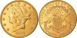 Coin, United States, Liberty Head, $20, Double Eagle, 1907, U.S. Mint, Denver