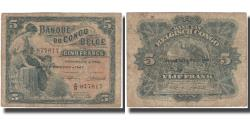World Coins - Banknote, Belgian Congo, 5 Francs, 1947, 1947, KM:13Ad, VF(20-25)