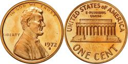 Us Coins - Coin, United States, Lincoln Cent, Cent, 1972, U.S. Mint, San Francisco,