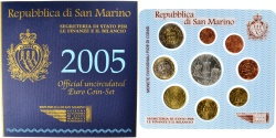 World Coins - San Marino, 1 Cent to 10 Euro, 2005,
