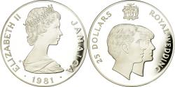 World Coins - Coin, Jamaica, Elizabeth II, 25 Dollars, 1981, British Royal Mint, Proof