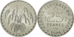 World Coins - Coin, Mali, 25 Francs, 1976, MS(63), Aluminum, KM:E4
