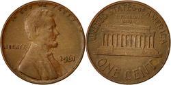 Us Coins - United States, Lincoln Cent, Cent, 1961, U.S. Mint, Philadelphia,