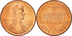 Us Coins - United States, Lincoln Cent, Cent, 1996, U.S. Mint, Philadelphia,