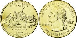 Us Coins - Coin, United States, New Jersey, Quarter, 1999, U.S. Mint, , Gold