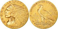 Us Coins - Coin, United States, Indian Head, $5, Half Eagle, 1908, U.S. Mint, Philadelphia