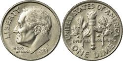 Us Coins - Coin, United States, Roosevelt Dime, Dime, 2001, U.S. Mint, Philadelphia