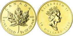 World Coins - Coin, Canada, Elizabeth II, 10 Dollars, 1995, Royal Canadian Mint, Ottawa