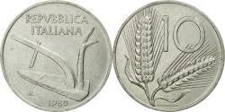 World Coins - Coin, Italy, 10 Lire, 1980, Rome, , Aluminum, KM:93