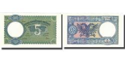 World Coins - Banknote, Albania, 5 Franga, Undated (1939), KM:6a, UNC(65-70)