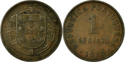 World Coins - Coin, Portugal, Centavo, 1918, , Bronze, KM:565